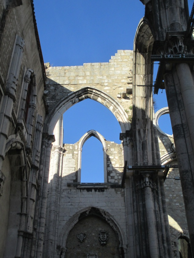 The Carmo Convent: ruined in 1755, still beautiful today.